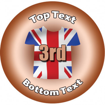 Personalised Stickers for Kids   Union Jack, Sports Third for School Sports Days