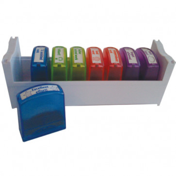 Teacher Stamps | 8 Self-inking Stamper Tray Set