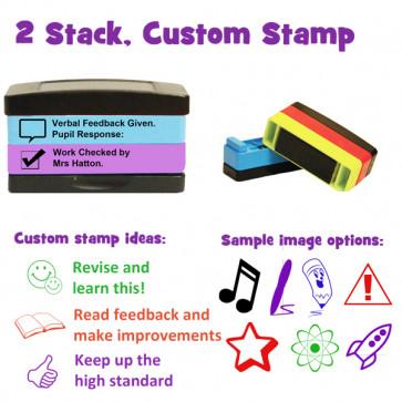 Custom School Stamps   Self-inking Multi-Stamper - 2 stack option