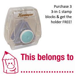 3-in-1 Stamper | This belongs to.... Work marking stamp