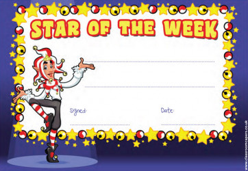 School Certificates | Star of the Week Class Awards.