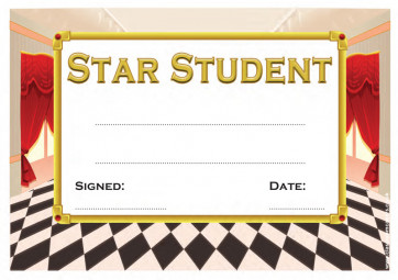 School Certificate | Star Student Certificate for Teachers