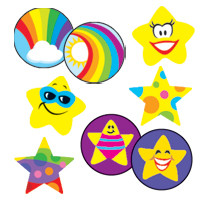 Rainbows and Stars Marking Stickers for Kids