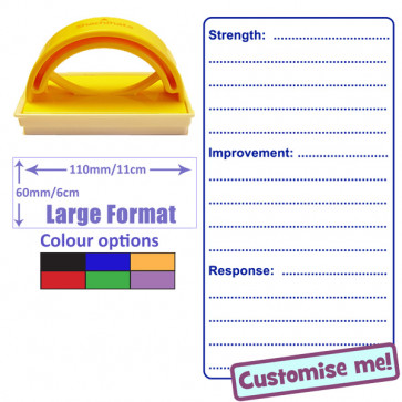 School Stamps | Strength, Improvement, Response. Choice of Ink Colour