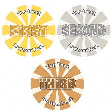 Personalised School Stickers | First, Second, Third Stars & Stripes Set! Design Custom Standard and Scented Stickers