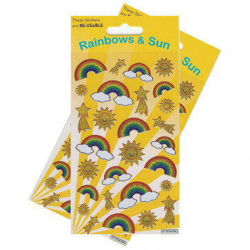 Kids Stickers | Rainbows and Sun Sparkle Stickers