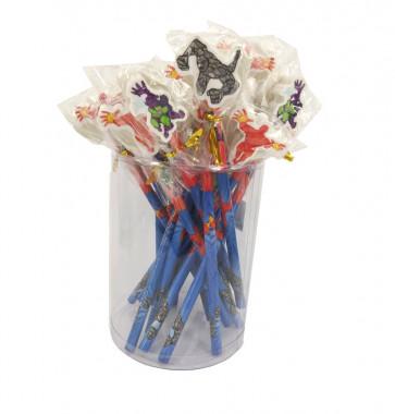 Bulk Stationery   Value Packs Superhero Pencils with Large Eraser Ends