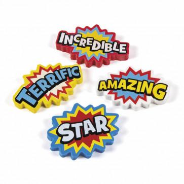 School Class Gifts | Superhero Starburst Erasers