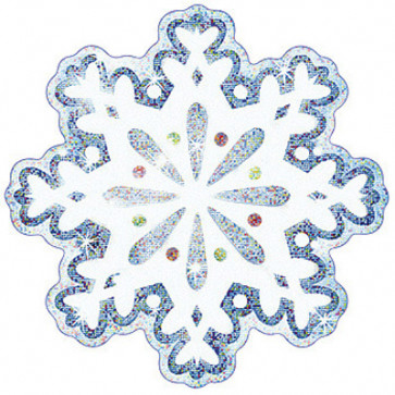 Display Picture Cards | Sparkle Snow Flakes
