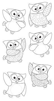 Colouring In | Colour In Owl Stars - 12 shaped, precut different designs