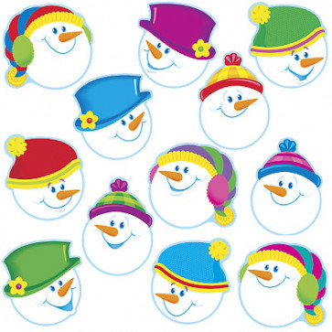 Display Picture Cards | Smiling Snowman for Christmas
