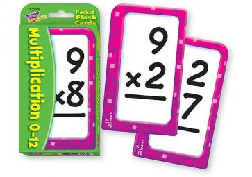 Educational Games | Multiplication 0-12 Pocket Flash Cards