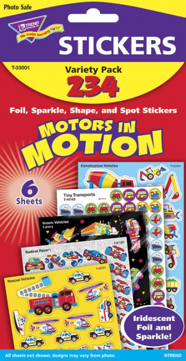 Childrens Stickers | Motors in Motion Kids Transport Stickers