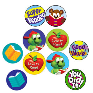 Teacher Reward Stickers | Reading Rewards Super Spot, Mini stickers