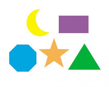 Children's Reward Stickers   Basic Shapes SuperSpots -  Great for Reward Charts