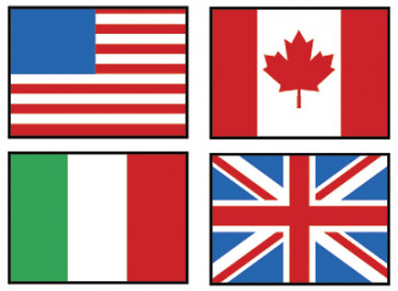 School Stickers | Flags of the World Stickers for the Classroom
