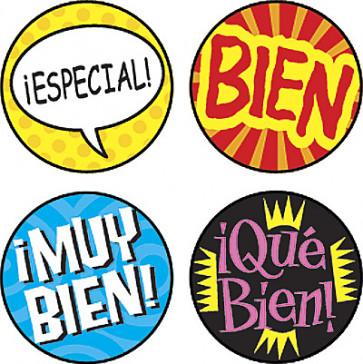 Teacher Stickers | Palabras de Elogio Spanish Stickers for Kids