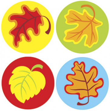 Children's SuperSpot stickers | Autumn Leaves Classroom Stickers