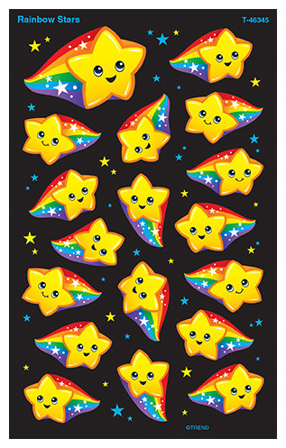 Kids Stickers | Rainbow Stars SuperShapes Stickers