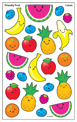 Kids Stickers | Friendly Fruit SuperShapes Stickers