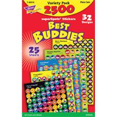 Kids Stickers | Best Buddies School Stickers. 2500 Mini Stickers Value Pack