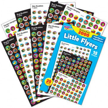 Kids Stickers | Little Flyers Mini Stickers - 2000 Sticker Variety Pack