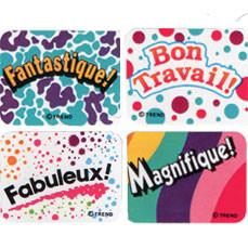Teacher Reward Stickers | French Praise Kids Stickers