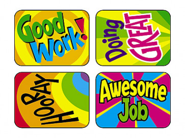 Reward Stickers | Hooray Words Merit Stickers for School