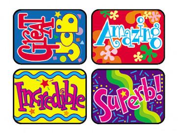 Teacher Praise Stickers | Wonderful Words Stickers for School