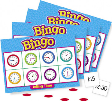 School Educational Games | Tell the Time Bingo for the whole class