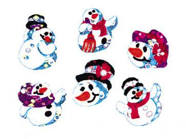 Kid's stickers | Snowman Folks Sparkles