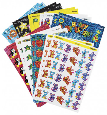Kids Glitter Stickers | 648 / 19 Sheet Variety Pack