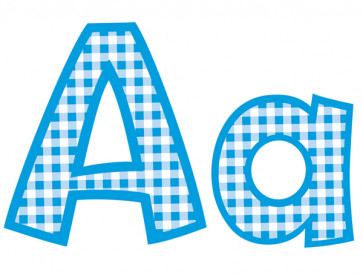 Blue Gingham Decorative Letters
