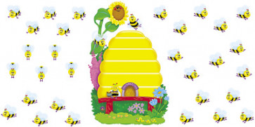 Classroom Display | Buzzy Beehive Display Wall Chart Set. Free Delivery