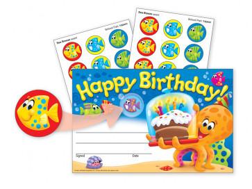 School Certificates   Happy Birthday Sea Buddies & Scratch 'n Sniff Stickers.