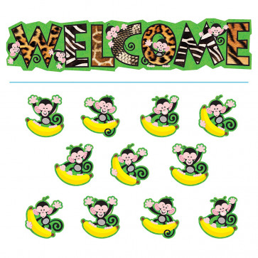 Classroom Displays   Monkey Design large Welcome Banner