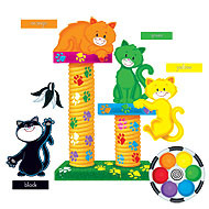 Wall Charts and Posters | 11 colour display set in 3 languages - Cute Cat design