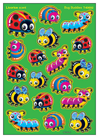 Kids Stickers | Bug Buddies Licorice Smelly Stickers