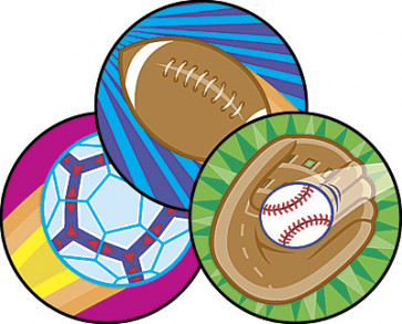 Sports Scratch 'n Sniff Smelly Stickers for Children