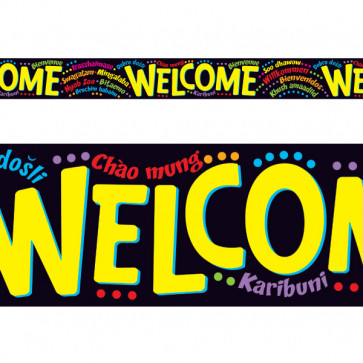 Classroom Display Trimmers / borders | Welcome in 9 Different Languages