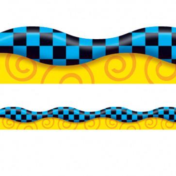 Blue and Black Borders Display Borders