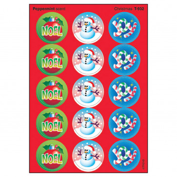 Kids Stickers | Christmas Smelly Stickers - Peppermint
