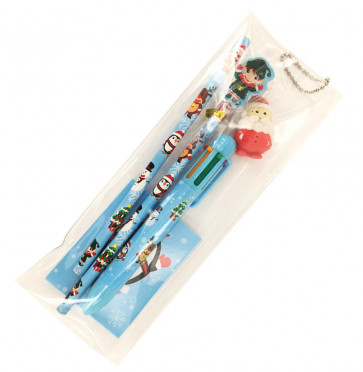 Class Gifts / Party Bags | Christmas Stationery Set in Pencil Case