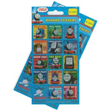 Premium Kids Stickers | Thomas the Tank Engine Re-usable Large Reward Stickers - 2 Packs