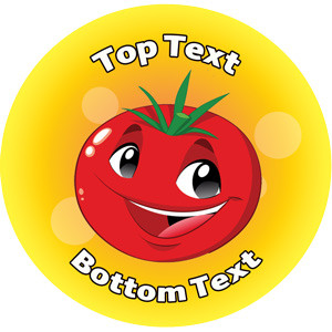 Personalised School Stickers | Tomato People! Design Custom Standard and Scented Stickers