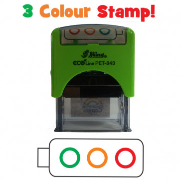 School Stamps | Multi-Colour Self-Assessment Traffic Light Teacher Stamper