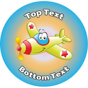 Personalised School Stickers | Zippy Airplane! Design Custom Standard and Scented Stickers