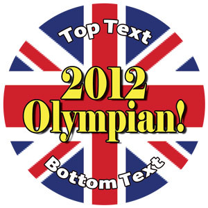 Personalised Stickers for Kids | Union Jack, 2012 Olympian Award for School Sports Days