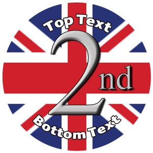 Personalised School Stickers   Union Jack 2nd Sports Design Custom Standard and Scented Stickers