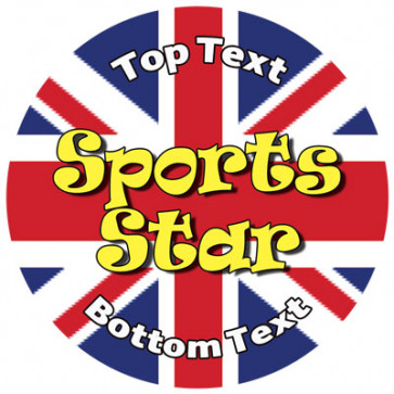 Personalised School Stickers | Union Jack Sports Star Design Custom Standard and Scented Stickers